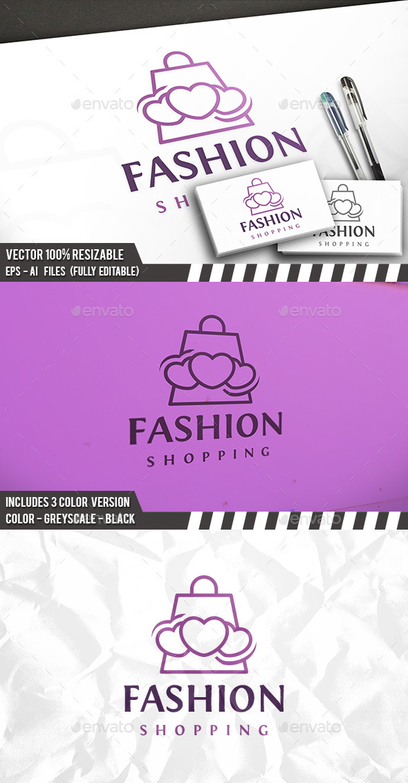 Love Shopping Logo - Objects Logo Templates