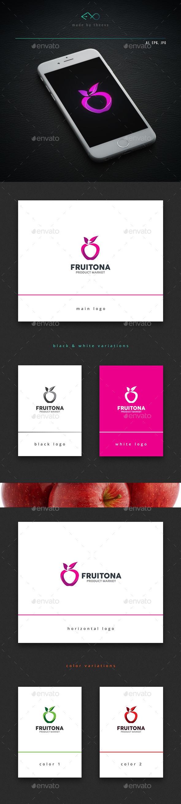 Fruitona - Food Logo Templates