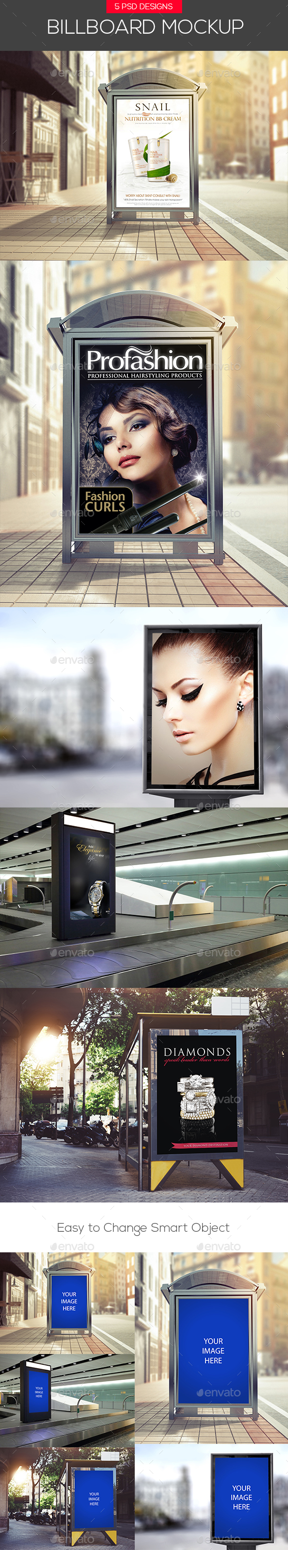 Clean City Advertising Billboard Mock-Ups - Signage Print
