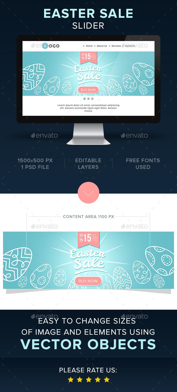 Easter Sale Slider - Sliders & Features Web Elements