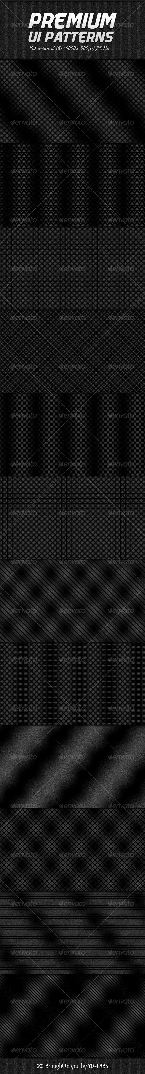 12 Premium Patterns - Patterns Backgrounds