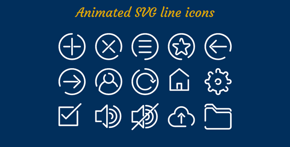 Animated SVG line icons - CodeCanyon Item for Sale
