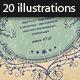 20 Vintage Frames Illustrations - GraphicRiver Item for Sale