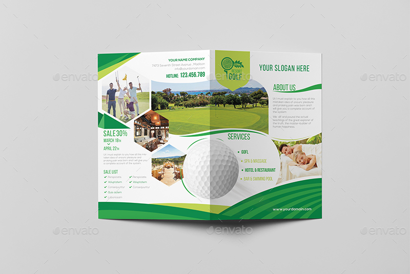 Golf Brochure Templates Idealstalist
