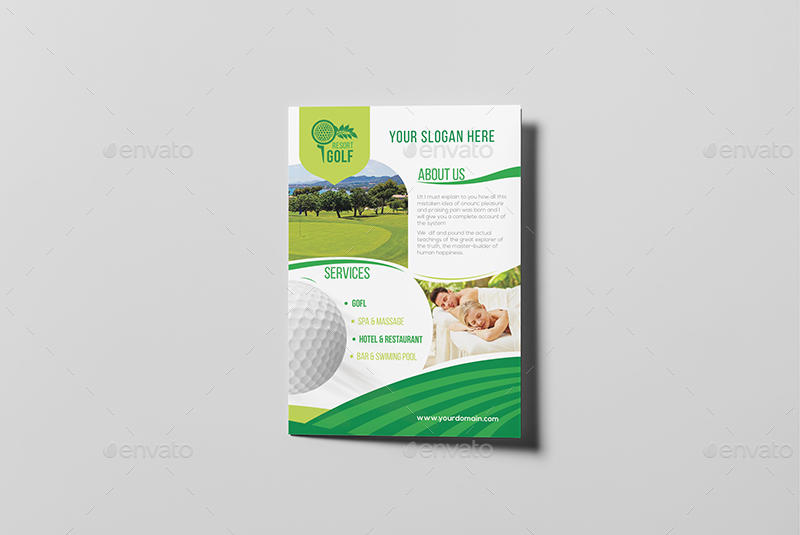 Golf Resort A Brochure Template By Wutip  Graphicriver
