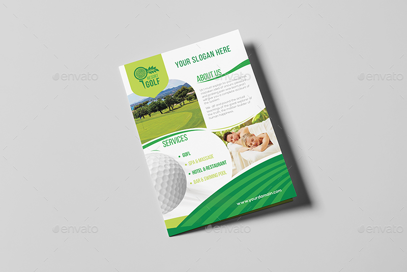 Golf Resort A Brochure Template By Wutip GraphicRiver - Hotel brochure template