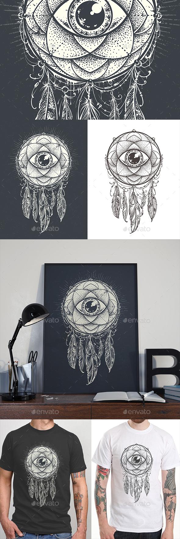 Dream Mandala - Decorative Symbols Decorative
