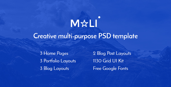 Mali — Multipurpose Portfolio & Personal Blog PSD Template - Corporate PSD Templates