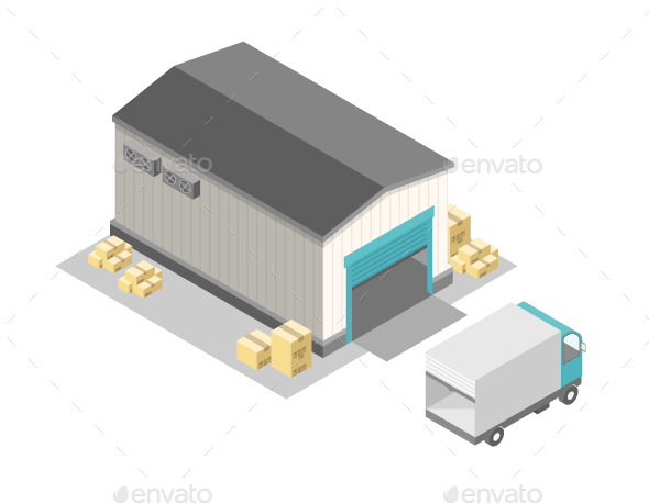 Isometric Warehouse - Industries Business