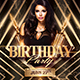 Gold Birthday Party | Psd Flyer Template - GraphicRiver Item for Sale