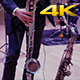 Man Playing on Saxophone on the Stage 4K - VideoHive Item for Sale