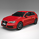 Audi A3 sportback hatchback - 3DOcean Item for Sale