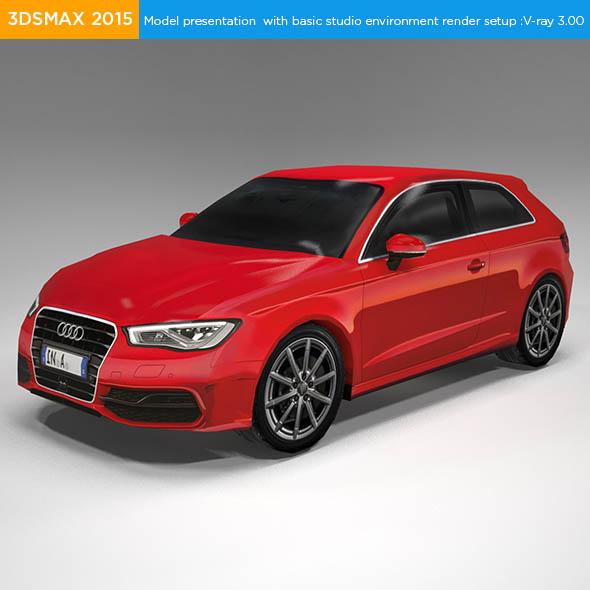 Audi A3 sportback hatchback - 3DOcean Item for Sale