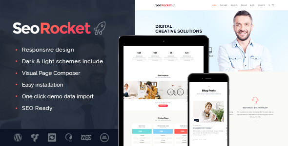 Seo Rocket | SEO & Marketing WordPress Theme - Marketing Corporate