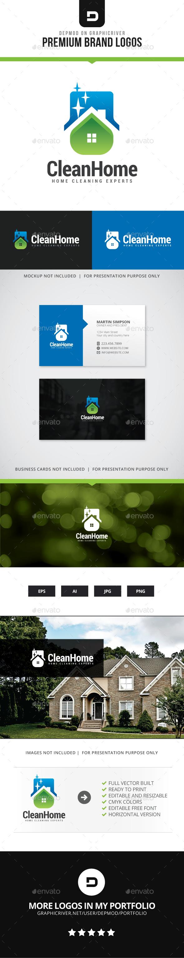 Clean Home Logo - Buildings Logo Templates