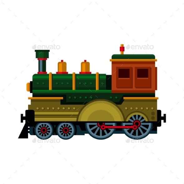 Retro Train - Travel Conceptual