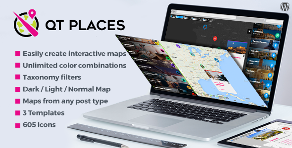 QT Places: Interactive Responsive Google Maps Wordpress Plugin - CodeCanyon Item for Sale