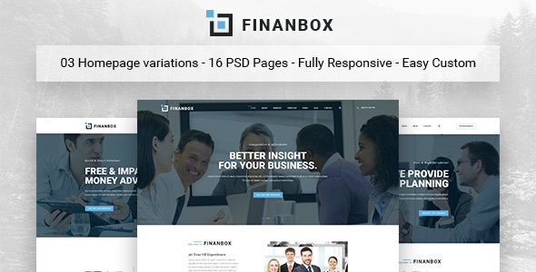 FINANBOX - Multipurpose Business & Corporate Business PSD Template