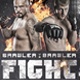 Chalk Fight Night MMA Boxing Flyer - GraphicRiver Item for Sale