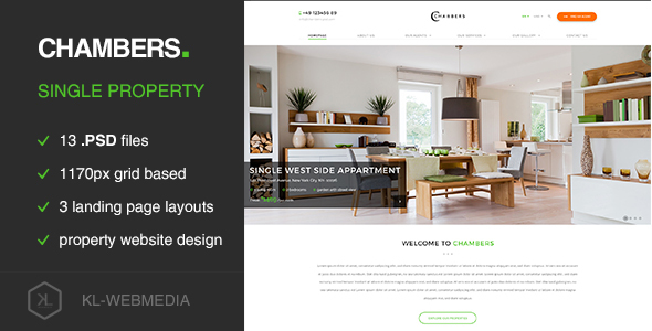 Chambers - Single Property PSD Template