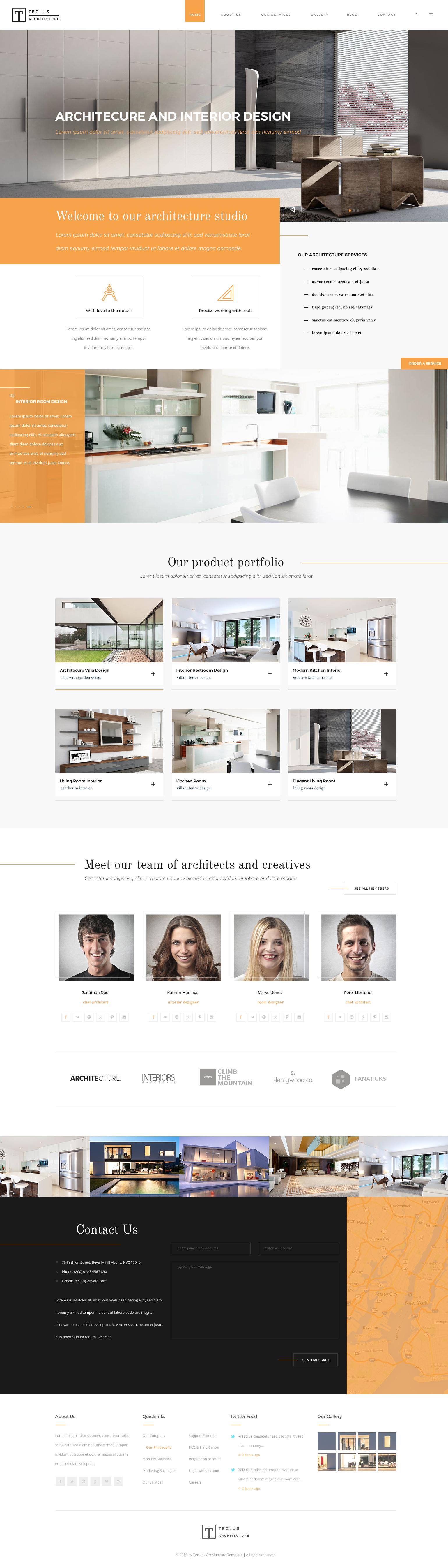 architecture design portfolio layout. Teclus - Architecture PSD Template Design Portfolio Layout