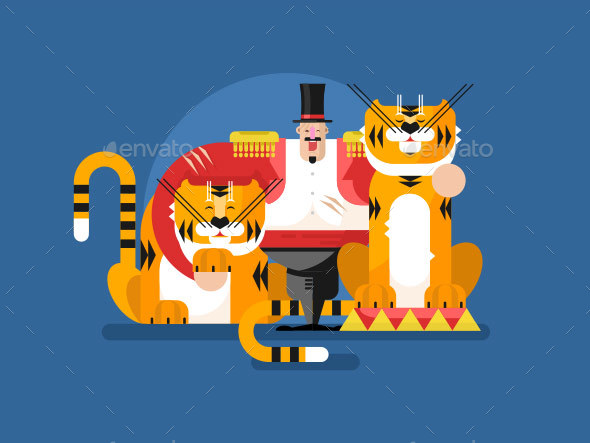 Animal Trainer with Tiger - Miscellaneous Characters