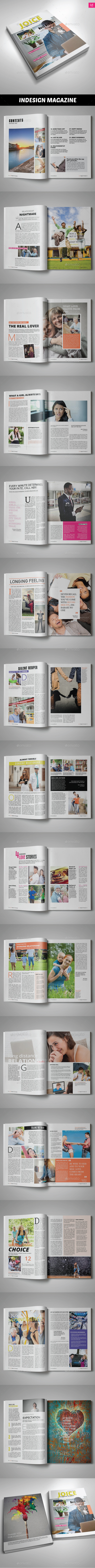 Joice Magazine Template | Issue 20 - Magazines Print Templates