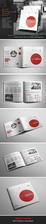 Corporate Bi-fold Square Brochure 04 - Corporate Brochures
