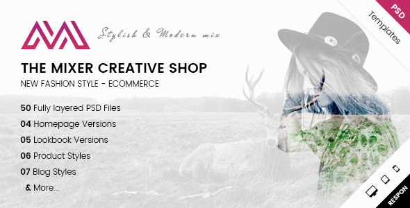 The Mixer - Creative Shop PSD Templates - Fashion Retail