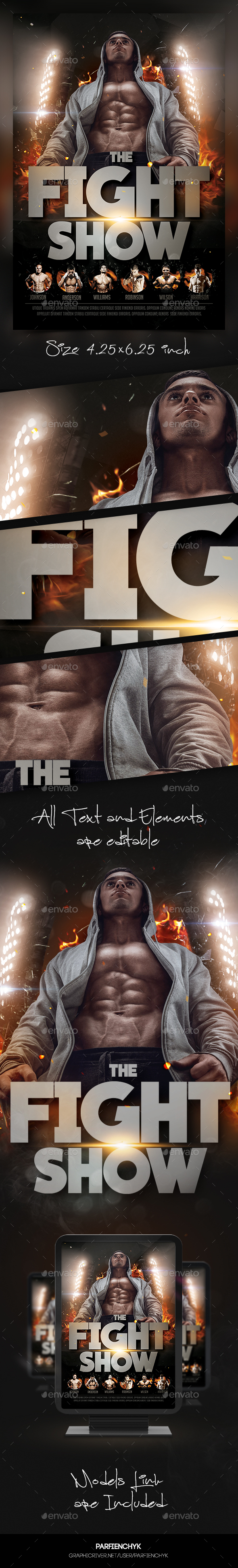 Fight Show Flyer Template - Sports Events