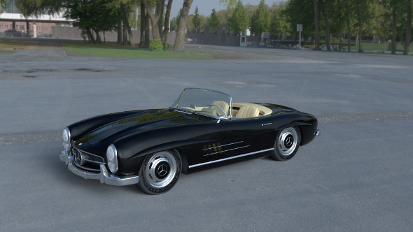 Mercedes 300SL Roadster W198 HDRI - 3DOcean Item for Sale