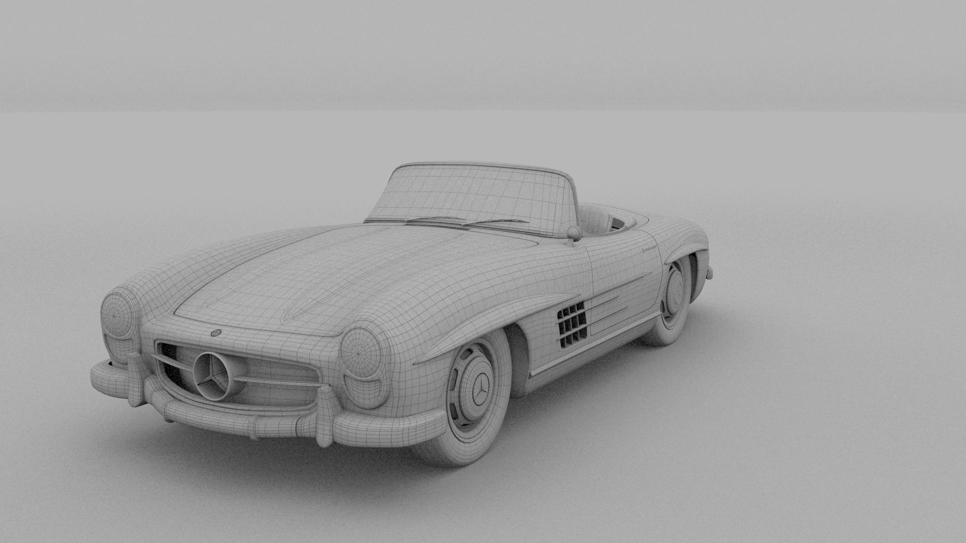 Mercedes 300SL Roadster W198 HDRI