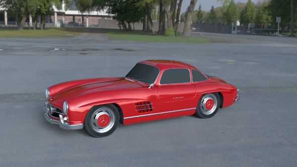Rigged Mercedes 300SL W198 HDRI - 3DOcean Item for Sale