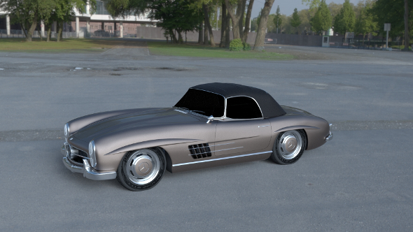 Mercedes 300SL Roadster Top Up HDRI - 3DOcean Item for Sale