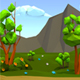 Low-Poly Meadow Background - GraphicRiver Item for Sale