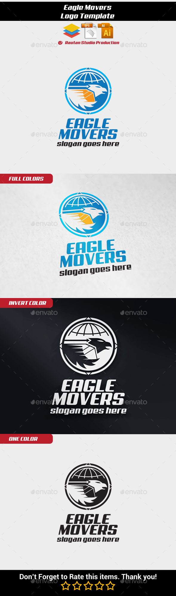 Eagle Movers - Animals Logo Templates