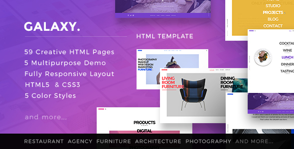 Galaxy – Multipurpose  Creative HTML5 Template