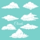 Background with Clouds Sketches - GraphicRiver Item for Sale
