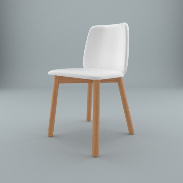 Blu Dot furniture - Chip Leather Dining Chair - 3DOcean Item for Sale