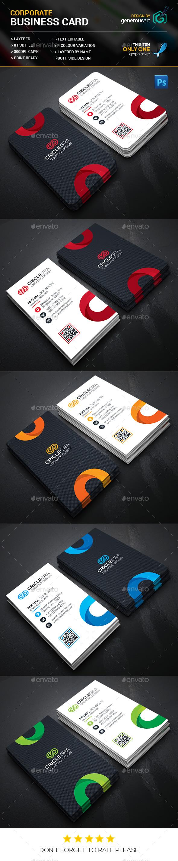 CricleGra Business Card - Business Cards Print Templates