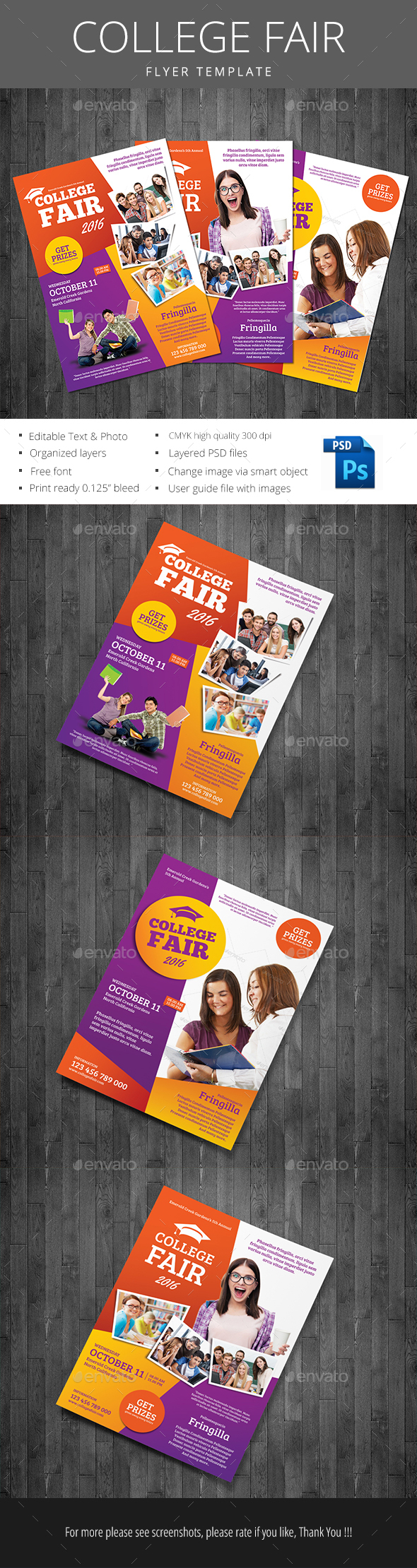 College Fair - Events Flyers