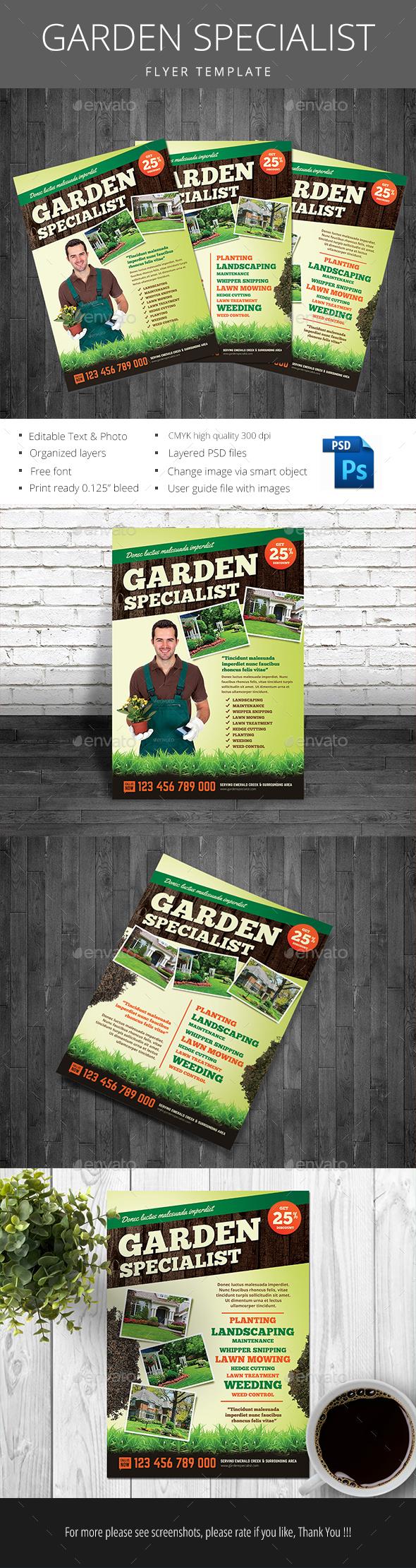 Garden Specialist - Events Flyers