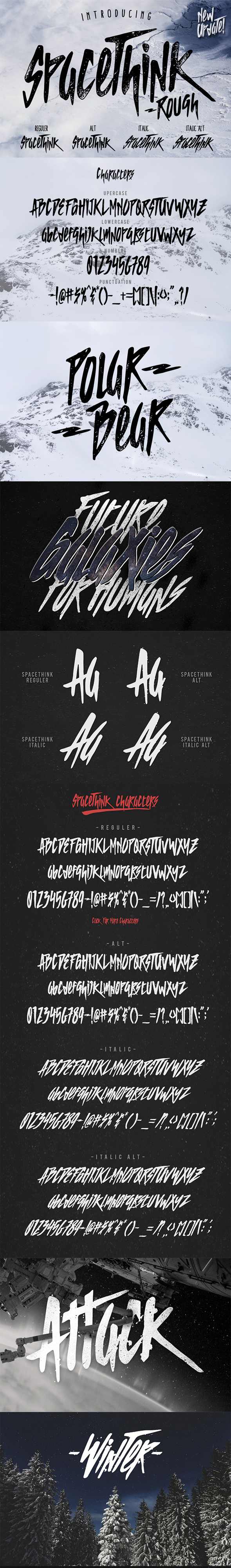 Spacethink Typeface - Decorative Fonts