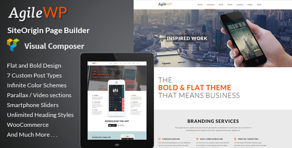 Agile - Multi-Purpose App Showcase WordPress Theme