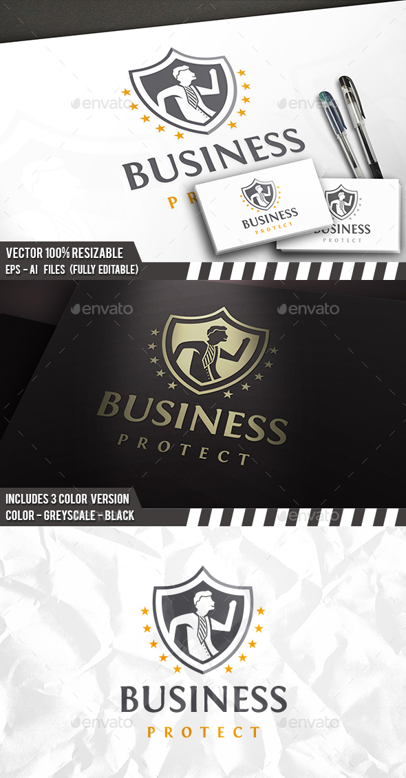 Business Security Logo - Humans Logo Templates