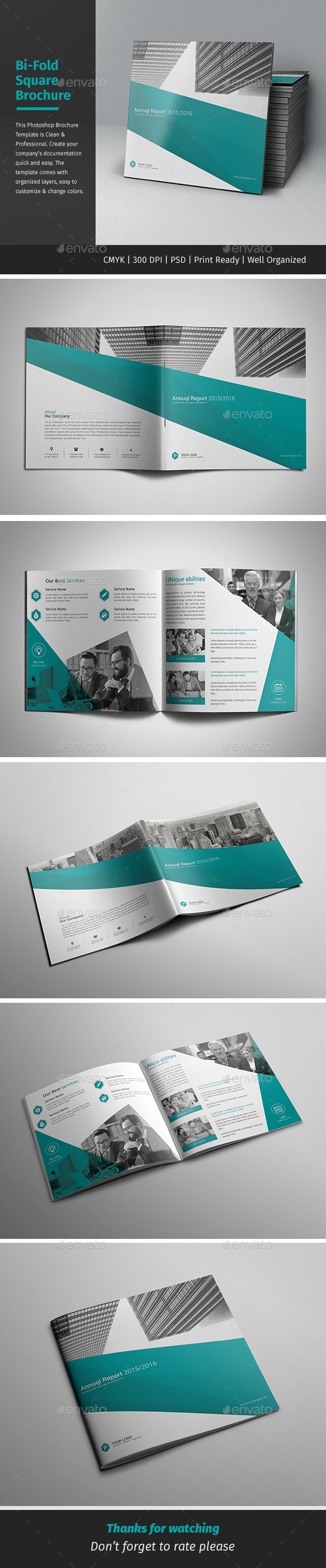 Corporate Bi-fold Square Brochure 05 - Corporate Brochures