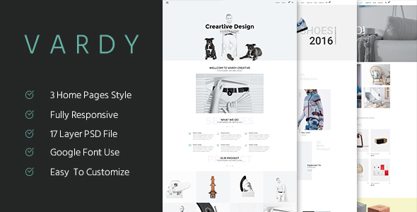 Vardy – Creative and Ecommerce PSD Template
