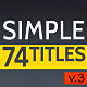 Simple Titles - v3 - VideoHive Item for Sale
