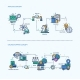 Analysis, Online Shopping Icons Business Concept - GraphicRiver Item for Sale