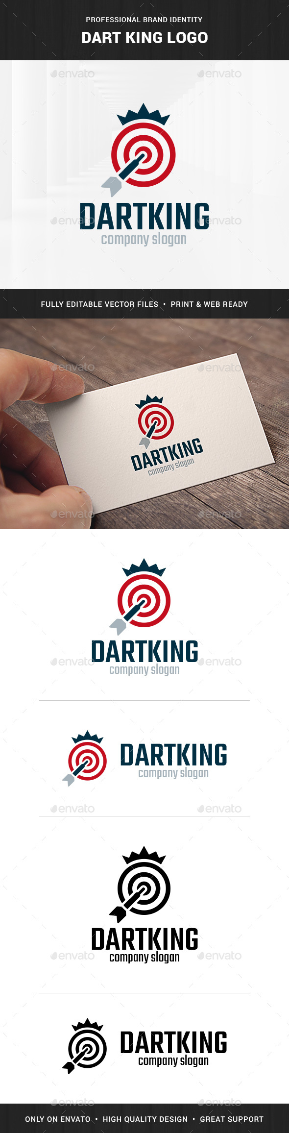 Dart King Logo Template - Objects Logo Templates